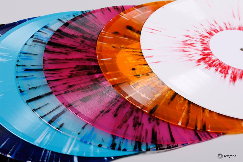 Colorful world of vinyl records